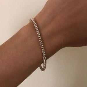 Simple Silver Napier bracelet